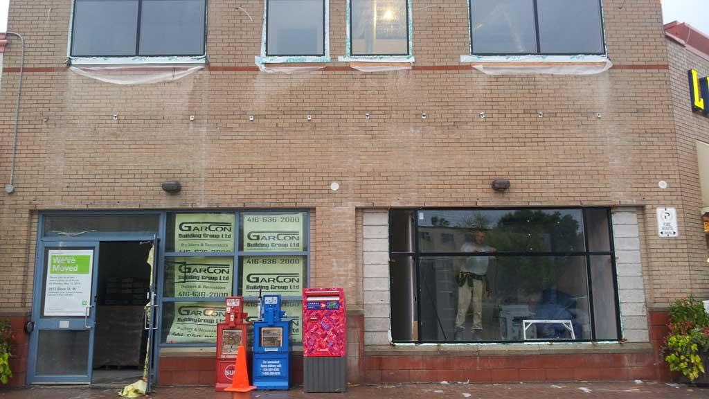 RVW Ltd Calgary Black Anodized Aluminum Windows Store Front